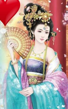 By Artist Unknown. Chinese Picture, Chinese Style, Chinese Art, Geisha Art, L5r, Creative Pictures, Fantastic Art, Chinese Painting, Ancient Art