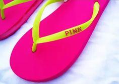 Vs pink ∆ flip flops background image