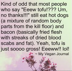 Boggles the mind sometimes, I tell ya... From the #MyVeganJournal Facebook Page