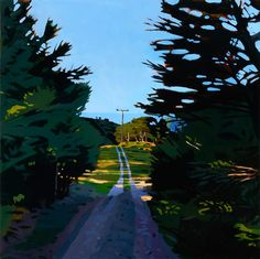 """Sheep's Path in Marybank"" oil on canvas 34"" x 34"" May, 2015 Dmitri Cavander"