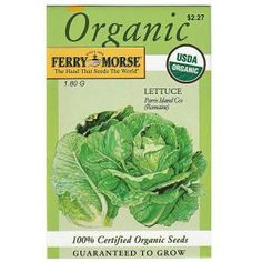 c2237e719c Find the Ferry-Morse Organic Lettuce Parris Island Cos (Romaine) Seed  USDA-certified organic the leaves are crisp and tender