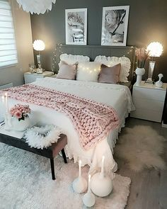 Cozy Home Decorating Ideas for Girls Bedroom - Bedroom Decor Ideas Bedroom Makeover, Bedroom Design, Room Inspiration, Cozy Home Decorating, Bedroom Decor, Home Decor, Room Decor, Room Ideas Bedroom, Apartment Decor