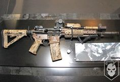 """the-great-white-canuck: """" norseminuteman: """"Not gonna lie, this was my dream AR build for a while. """" I'm not a fan of his camo job, but Brian seems like a pretty knowledgable guy so I can't really knock it. Weapons Guns, Airsoft Guns, Guns And Ammo, Rifles, Ar 15 Builds, Ar Build, Battle Rifle, Custom Guns, Custom Ar15"""
