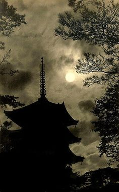 PAGODA UNDER MOON | THIS IMAGE is one of several examples of… | Flickr