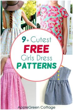 Easy Baby Sewing Patterns, Little Girl Dress Patterns, Simple Dress Pattern, Kids Dress Patterns, Childrens Sewing Patterns, Baby Clothes Patterns, Clothing Patterns, Skirt Patterns, Coat Patterns
