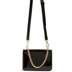 Forever21 Faux Leather Crossbody Bag (23 CAD) ❤ liked on Polyvore featuring bags, handbags, shoulder bags, black, faux leather shoulder bag, faux leather crossbody purse, crossbody purse, faux leather purses and flap shoulder bag