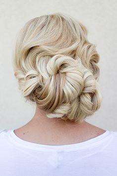 These wedding updos are beautiful from every angle. | Hair and Makeup by Steph