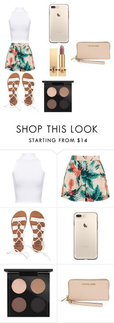 """""""At The Beach"""" by laijah ❤ liked on Polyvore featuring WearAll, Topshop, Billabong, MAC Cosmetics, Michael Kors and Yves Saint Laurent"""