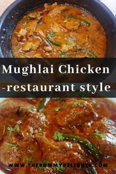 Mughlai chicken curry recipe with step by step photos & a video recipe. This Mughlai chicken curry is a royal dish made in restaurant style. Indian Chicken Gravy Recipe, Indian Chicken Dishes, Indian Chicken Recipes, North Indian Recipes, Indian Food Recipes, Vegetarian Recipes, Cooking Recipes, African Recipes, North Indian Chicken Curry Recipe