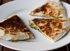 Save-ory Kitchen: Spinach Pesto Quesadilla
