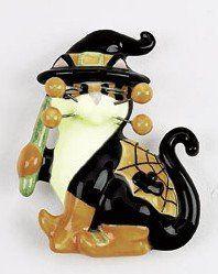 WhimsiClay CreePella Halloween Cat Pin by WhimsiClay. $6.50