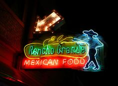 Tulsa, OK El Rancho Grande neon sign by army.arch, via Flickr