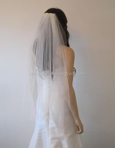 Veil wedding veil bridal veils ivory diamond by Diamondweddingveil, $33.99