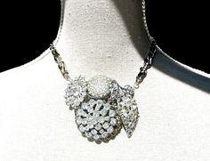 Statement Necklace, Vintage Wedding Jewelry by Dabchick Vintage Gems on Etsy