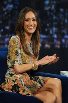 """love Maggie Q's hair color, I""""m going to try & get this color!"""