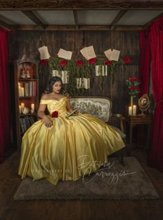Candelaria's Beauty and The Beast Sweet Sixteen Session Beauty And The Beast Wedding Theme, Beauty And The Beast Dress, Beauty And Beast Birthday, Sweet 16 Dresses, 15 Dresses, Navy Blue Quinceanera Dresses, Princess Ball Gowns, Princess Theme, Belle Dress