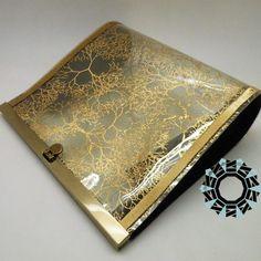 """Golden dendron"" evening bag / Wieczorowa torebka ""Złoty dendron"" by Tender December, Alina Tyro-Niezgoda. More / Więcej: http://tenderdecember.eu/6506-2/ To buy/Aby kupić: http://tenderdecember.eu/shop/produkt/silver-gold-transparent-bag-srebrno-zlota-przezroczysta-torebka/"