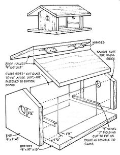 Bird House Plans And Diions on