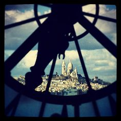 The Sacre Couer Basilica through the eyes of the Musee d'Orsay in Paris — put through Instagram.  See the rest of my photography portfolio on RedBubble: http://www.redbubble.com/people/felinemind