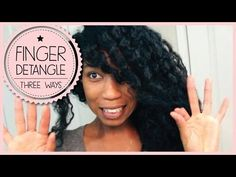 3 Ways To Safely Finger Detangle + Remove Knots on Curly Natural Hair - Natural Hair Care Tips, Natural Hair Regimen, Natural Hair Styles, African Natural Hairstyles, Matted Hair, Hair Addiction, Black Hair Care, Natural Hair Inspiration, Hair Journey