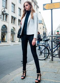 Bicolor - Paris Fall 2016 Haute Couture Fashion Week Street Style - July 2016