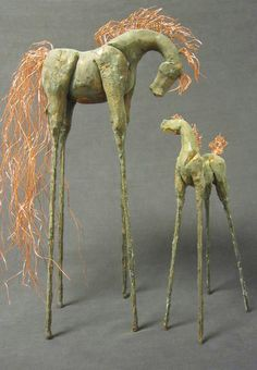 Rachael Zaudke Wilkins Pottery Animals, Ceramic Animals, Ceramic Art, Horse Sculpture, Sculpture Clay, Animal Sculptures, Pottery Sculpture, Pottery Art, Painted Pony