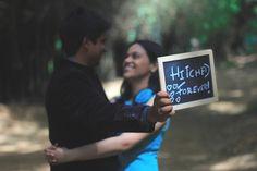 pre wedding shoot with chalkboard,  fun shoot ideas, slate, props