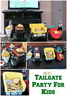 Mini Tailgate Party For Kids #Tailgate #Football www.momsandmunchkins.ca