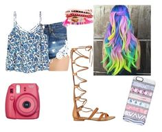 colorful hair by r2005g on Polyvore featuring moda, Forte Couture, GUESS, Hipanema and Casetify