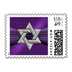 Purple Ribbon Star of David Postage Stamp. It is really great to make each letter a special delivery! Add a unique touch to invites or cards with your own photos or text. Just click the image to learn more!