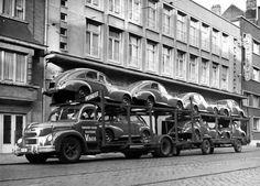 Een levering van Peugeots 203 ergens in België