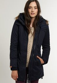 SuperDry Hooded Super Windcheater in Navy <3