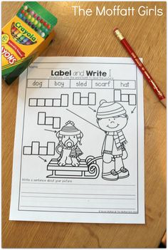 Label the picture and WRITE a sentence!  SO many fun and engaging math and literacy printables!