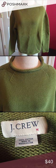 Vintage J. Crew roll neck sweater sz M Sage green J.Crew roll neck sweater sz M.   Good condition!!! J. Crew Sweaters Cowl & Turtlenecks