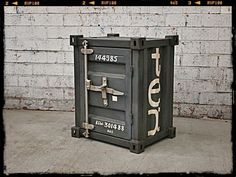 Shipping Container Furniture - Unique Bedside Table - Retro Furniture Online $225