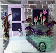 Waiting By the Backdoor - Glass Mosaic by SuzanneImagineArt on Etsy