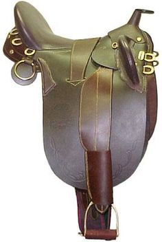 The Australian Stock Saddle. You can still be a cowboy or cowgirl with an English influence. This is a great saddle for trail rides since its lighter than a Western saddle but much more comfortable than an English saddle.