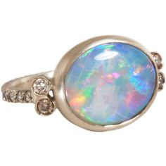 Anaconda Australian Red Opal Salome Ring (23.590 BRL) ❤ liked on Polyvore featuring jewelry, rings, accessories, fillers, opal, women, opal band ring, red jewelry, anaconda jewelry and band rings