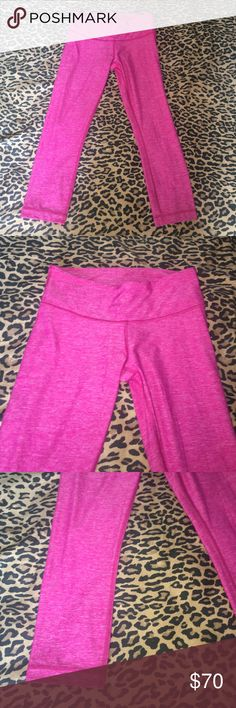 Lululemon size 6 women's leggings 7/8 hot pink Gently used no stains or holes super cute on lululemon athletica Pants Leggings