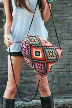 Backpacks – Hippie Colourful Aztec Boho Southwestern Backpack – a unique product by OneBagOneLove via DaWanda