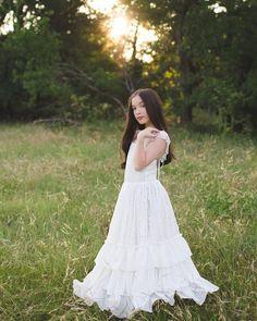 GIRLS WHITE LACE BLACK ROSE FLORAL PRINT VINTAGE BOHO FULL LENGTH MAXI DRESS