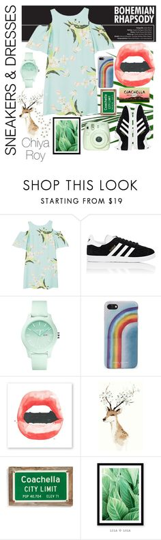 """""""'Chella In Style"""" by chiyaroy ❤ liked on Polyvore featuring MANGO, adidas, Lacoste, Marc Jacobs, Poncho & Goldstein and Global Views"""