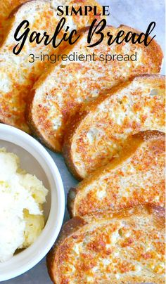 Cajun Delicacies Is A Lot More Than Just Yet Another Food Don't Serve Pasta Without Garlic Bread :- Simple Garlic Bread Spread Recipe With Only Bread Spread Recipe, Garlic Bread Spread, Make Garlic Bread, Tasty Bread Recipe, Banana Bread Recipes, Biscuit Recipe, Garlic Butter, Garlic Bread Recipe Without Oven, Garlic Recipes
