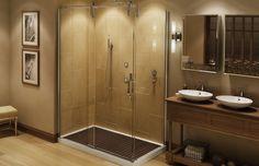 Must have for the shower Mechanix door - MAAX Collection Shower Sliding Glass Door, Halo, Decoration, Master Bathroom, Hardware, Mirror, Bathrooms, Interior Doors, Modern Interior