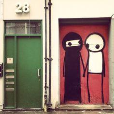 by Stik on Brick Lane, East London (LP)