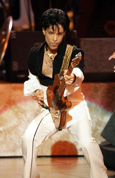 Musician Prince performs on stage at the 36th NAACP Image Awards at the Dorothy Chandler Pavilion on March 19, 2005 in Los Angeles, California. Picture: Kevin Winter/Getty Images