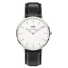 Daniel Wellington Men's Classic Sheffield Silver Watch - Black found on Polyvore