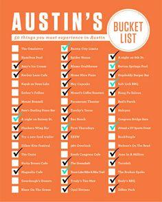 Austin Bucketlist | wanna do this over the summer:)