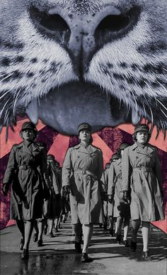 "eugenialoli:    ""Tiger Marines"" by Eugenia Loli  Follow the artist: TumblR 