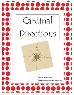 This lesson plan/game focuses on cardinal directions. It contains a fun, active game to help meet all learning modalities.    The Cardinal Directions Treasure Hunt Game & Printable contains:    -Complete Teaching Guide  -Classroom Cardinal Directions Signs  -Compass Rose printable  -Cardinal Directions Treasure Hunt & Directions